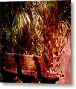 Tropical Bench Metal Print