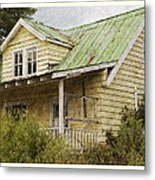 Tropical Cottage Metal Print