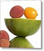 Tropical Fruits Metal Print