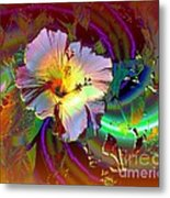 Tropical Hibiscus Explosion Metal Print by Doris Wood