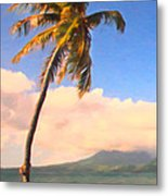 Tropical Island 2 - Painterly Metal Print