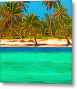 Tropical Island 5 - Painterly Metal Print