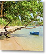 Tropical Island Scenery Metal Print
