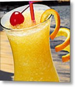 Tropical Orange Drink Metal Print