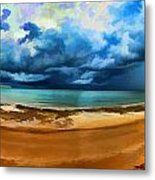 Tropical Seasonal Monsoon Rain V2 Metal Print