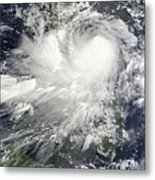Tropical Storm Nock-ten Metal Print