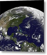 Tropical Storms On Planet Earth Metal Print