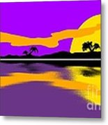 Tropical Sunrise Metal Print