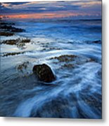 Tropical Sunrise Swirl Metal Print