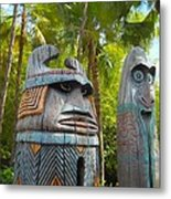 Tropical Tikis Metal Print
