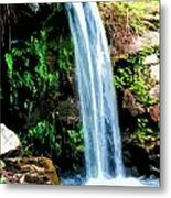Tropical Waterfall And Pond Metal Print