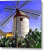 Tropical Windmill Metal Print