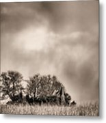 Trouble Brewing II Bw Metal Print by JC Findley