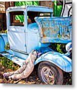 Trouble On Route 66 Metal Print
