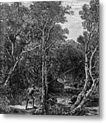Trout Fishing, 1867 Metal Print by Granger