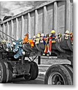 Truck And Dolls With Selective Coloring Metal Print