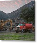 Truck And Tractors In Hdr Metal Print