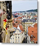 Trumpeter - Prague Old Town Square Metal Print