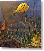 Trunkfish And Anemone Fish Metal Print