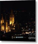 Truro Cathedral Illuminated Metal Print