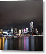 Tsim Sha Tsui - Kowloon At Night Metal Print by Enrique Rueda