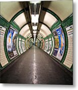Tube Tunnel Metal Print