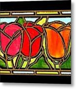 Tulip Friends Metal Print
