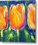 Tulip Gold Metal Print