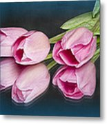 Tulips And Reflections Metal Print