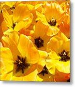 Tulips Art Prints Yellow Tulip Flowers Floral Metal Print
