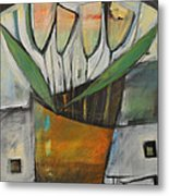 Tulips In Terracotta Metal Print