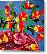 Tulips Vase Metal Print