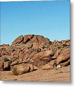 Tumbling Rocks Of Gold Butte Metal Print