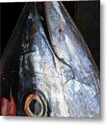 Tuna Head At Fish Market Metal Print