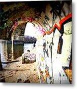Tunnel Bridge River Fish Metal Print