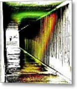 Tunnel Of Colour Metal Print