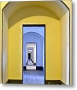 Tunnel Of Doors At Fort Point Metal Print