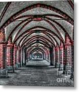 Tunnel With Arches Metal Print