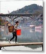 Tuojiang River In Fenghuang Metal Print