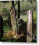 Turkish Cemetery In Rural Mugla Province Metal Print