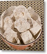Turkish Delight In A Bowl Metal Print