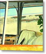 Turn Left Up There Metal Print