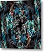 Turquoise Crystals Metal Print