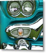 Turquoise Headlight Metal Print