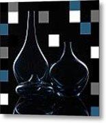 Turquoise Vases Metal Print by Katy Irene