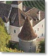 Turrets Schloss Goldrain Metal Print