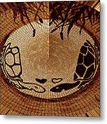 Turtles Love Digital Artwork Metal Print