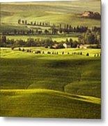 Tuscan Fields Metal Print