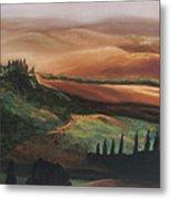 Tuscan Hills Metal Print