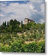 Tuscany Villa In Tuscany Italy Metal Print